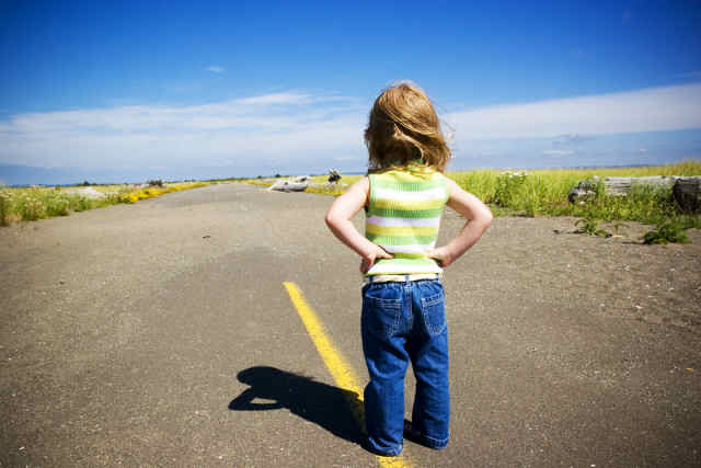 girl-road-looking-ahead
